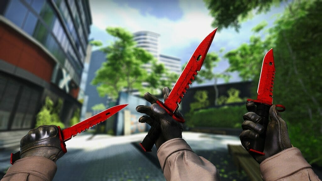 StatTrak M9 Bayonet Crimson Web Factory New