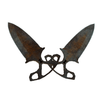 shadow daggers rust coat battle scarred